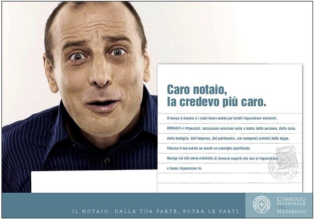 Un'immagine presa dalla campagna 2006 del Consiglio Nazionale del Notariato
