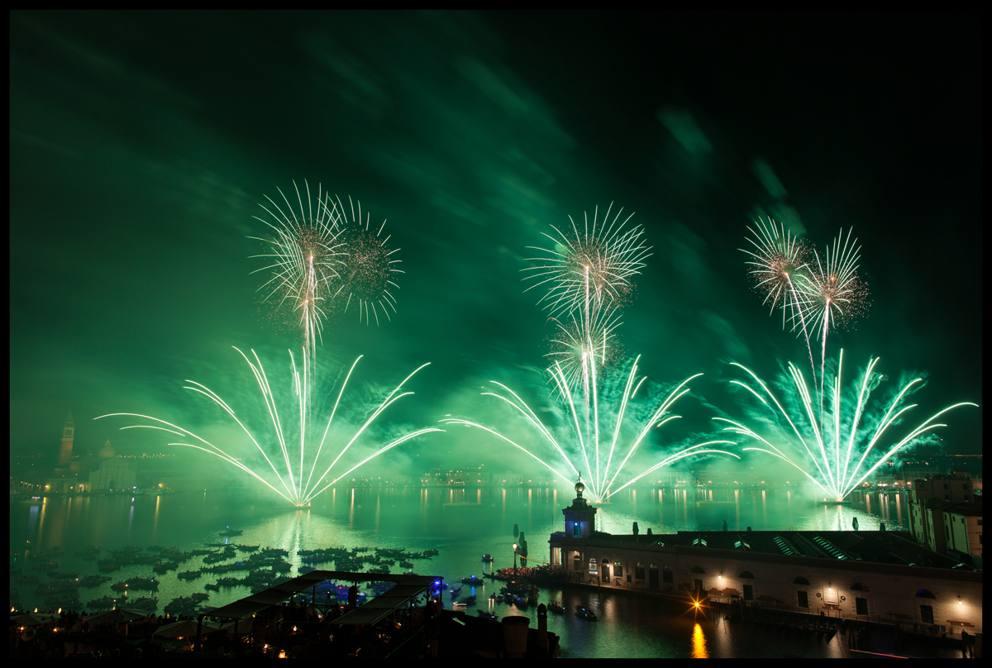 I fuochi della festa del Redentore a Venezia